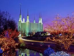 Mormon Tabernacle Washington Dc Christmas Lights Christmas Lights At Washington D C Mormon Temple