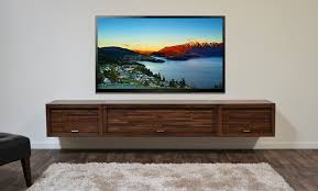 ... Furniture Wall Mounted Flat Screen Tv With Shelf Hanging Floating  Wooden Cabinet Design Idea Best Recommended ...