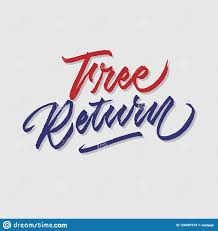 freereturn free return hand lettering typography sales and marketing shop store