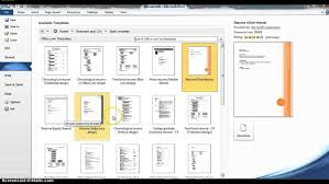 Using Microsoft Word Resume Templates Youtube Ms Template 2015