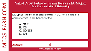 virtual circuit networks frame relay and atm quiz mcqslearn free videos