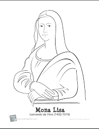 Coloring Pages Mona Lisa Coloring Page Book And Books Chapel