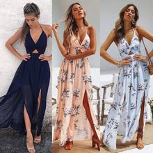 Best value Boho <b>Women Floral Maxi Dress</b> Sleeveless – Great deals ...