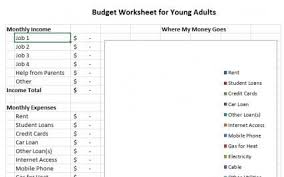 Budget For Young Adults Sample Household Budget Forms Budgeting Budgeting