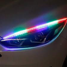 How To Install Flex Led Lights In Car Amazon Com 12v Car Led Drl Daytime Running Lights Rgb Led