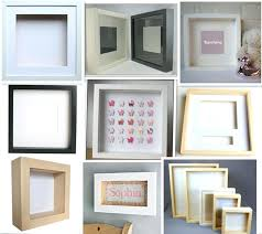 white shadow box frames whole wood deep extra uk