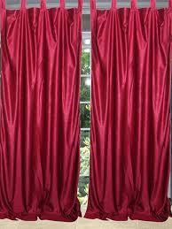 home decor idea silk curtain red d by mogulgallery tab top curtainspanel