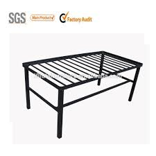 Metal Bedroom Bench Fashional Design Massage Bed Metal Bed Frame Black Color Iron Bed