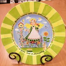 another beautiful plate painted by georgia