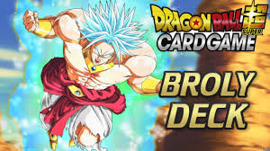 best broly deck profile dragon ball super card game
