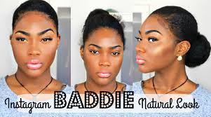 insram bad natural hair and makeup tutorial on dark skin you