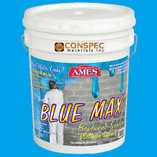ames blue max liquid rubber waterproofing foudation under tile shower deck roof basement leak repair conspec ames blue max e93