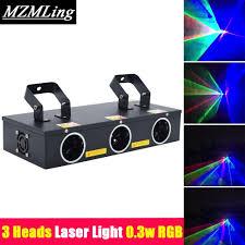 Laser Light Party Machine Hot 3 Heads Laser Light 0 3w Rgb R 100mw G 45mw B 120mw