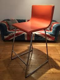 ikea bernhard bar stools orange leather