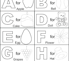 Alphabet Coloring Pages A Z Alphabet Coloring Pages A Z Printable Me