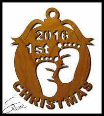scroll saw christmas ornaments. scrollsaw workshop: baby\u0027s 1st christmas ornament scroll saw pattern. years 2016, 2017, 2018, 2019 and 2020. ornaments