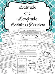 Latitude and Longitude Activities | Interactive activities ...