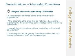financial aid scholarship personal statement financial aid 101 scholarship