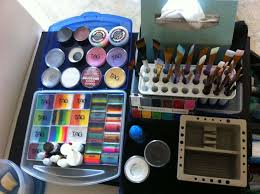 face painter s set up
