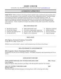 Sample Resume Auto Mechanic Top Automotive Resume Templates Samples