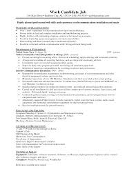 Resume Objective Examples Electrician Apprentice Fresh Resume