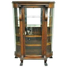 fine glass curio display cabinet antique curio cabinets with curved glass pretty curved curio cabinet antique