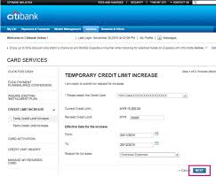 ask for a credit limit increase credit card limit increase credit card limit citibank malaysia
