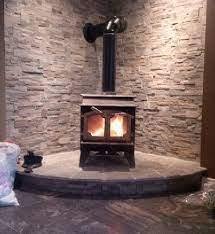 wood stove surround wood stove corner