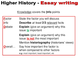 higher history essays writing knowledge points