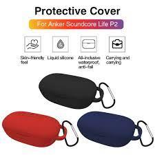 Vỏ Bảo Vệ Bằng Silicon Dành Cho Hộp Đựng Tai Nghe Anker Soundcore Life P2  case airpod pro