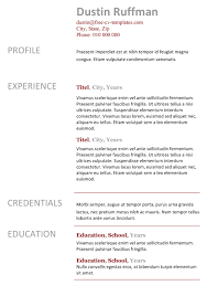 Easy Free Resume Templates Easy Peasy Free Resume Template Made In Word