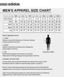 adidas sizing chart adidas apparel size chart syracusehousing org