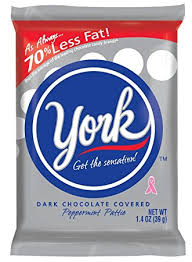 york candy. york peppermint patties dark chocolate covered mint candy, 1.4 ounce (pack of 36) candy p