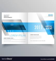 Business Magazine Cover Template Layout With Blue