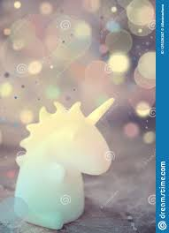 Unicorn Shape Table Lamp Illuminated Stock Image Image Of Bedtime