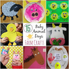 to extend the activity at home than by creating baby animal crafts here are 15 adorable baby animal day farm crafts sure to brighten any child s day