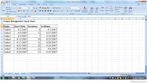 create a gantt chart using microsoft