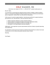 Registered Nurse Cover Letter Template Best Perioperative Nurse Cover Letter Examples Livecareer