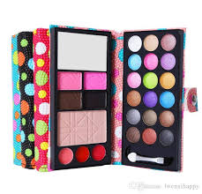 hot daily portable makeup kit eye shadow lips gross blush pressed powder eye brow brush makeup professional makeup brush
