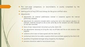 Example Of A Cv Custom Cost Value Reconciliation Cvr