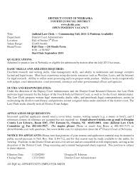 Deputy Clerk Resume Example Sample City Examples Templates Law