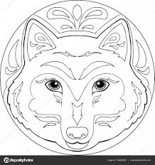 Kleurplaat Wolf Mandala Book Marketing