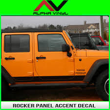 image is loading jeep wrangler rocker panel decals matte black 2