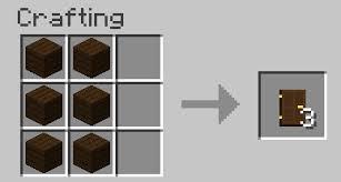 minecraft door. Image Titled Make A Wooden Door In Minecraft Recipe.png
