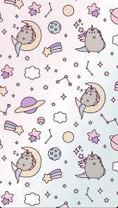 Lock Screen Unicorn Pusheen Wallpaper