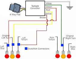 4 way trailer wiring instructions meetcolab 4 way trailer wiring instructions taillight converter schematic diagram