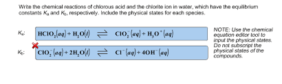 the chemical reactions of chlorous acid