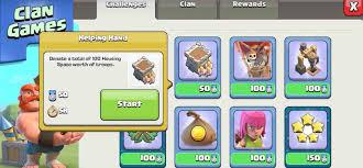 start challenge in clan games