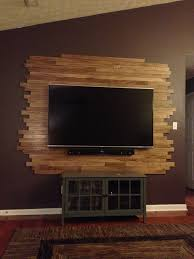 Led Wooden Wall Design Wood Tv Wall Wall Mounted Tv Modern Tv Wall Pallet Tv