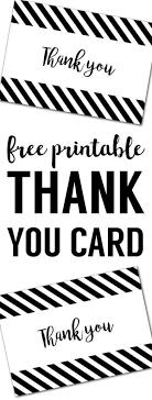 Thank You Black And White Printable Free Thank You Cards Print Free Printable Black And White
